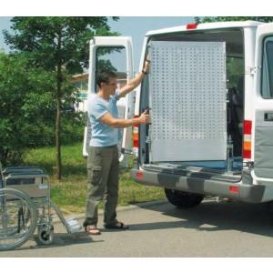 RRD - Rampe en aluminium PIVOTANTE et repliable en 2 parties pour fourgons & V.U.L. - Capacité 450 kg à 1000 kg - Longueur 1,80 m à 2,80 m