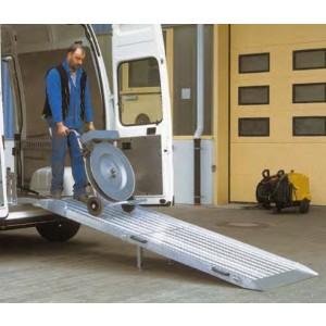 RRK - Rampe en aluminium repliable en 2 parties pour fourgons & V.U.L. - Capacité 400 kg à 1000 kg - Longueur 1,80 m à 3,00 m