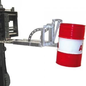 Pince automatique pour 1 ou 2 fûts métalliques et plastiques à rebords de 60 l - Capacité 0,1 t et 0,2 t