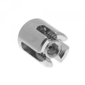 Serre-câble croisé simple inox - Pour câble Ø 2 mm à 6 mm