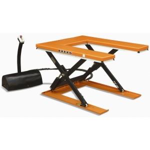 Table élévatrice électrique fixe à plateau évidé UH - Capacité 1000 kg et 1500 kg, hauteur maxi 860 mm