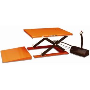 Table élévatrice électrique fixe avec rampe d'accès YH - Capacité 1000 kg à 2000 kg, hauteur maxi 860 mm et 870 mm
