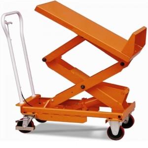 Table élévatrice manuelle LB avec plateau inclinables - Capacité 400 kg et 800 kg