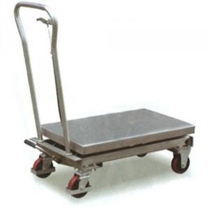 Table élévatrice mobile manuelle INOX VHM - Capacité 200 kg