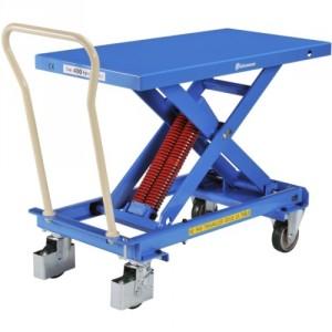 Table élévatrice manuelle BISHAMON à niveau constant - Capacité 50 kg à 400 kg