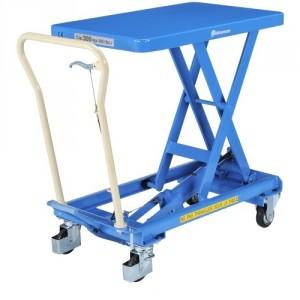 Table élévatrice professionnelle BISHAMON élévation manuelle simple ciseaux - Capacité 150 kg à 800 kg