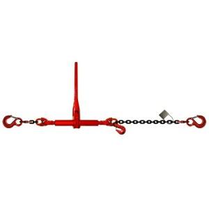 Tendeur d'arrimage à cliquet TD2 avec chaîne HR grade 80 et deux crochets standard avec linguet de sécurité - Chaîne Ø 8 mm à 16 mm