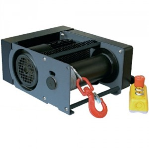 Treuil électrique à câble compact PRM 220 V Monophasé et 380 V Triphasé - Capacité 0,3 t à 2 t