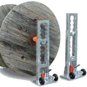 Vérin VH avec cric hydraulique pour bobines de câble - Capacité 6 t à 16 t par paire
